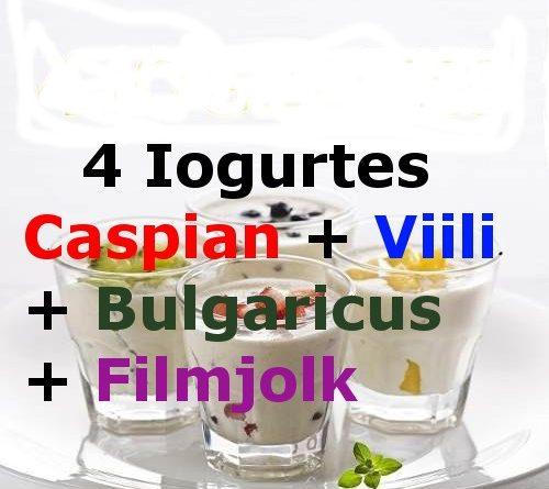 4 Iogurtes-Caspian-Viili-Bulgaricus-Filmjolk